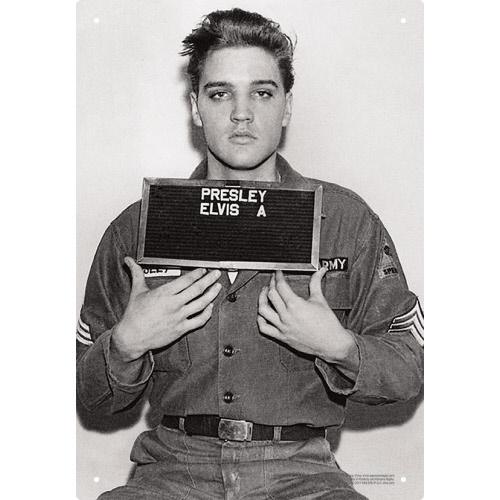 Elvis Presley Enlistment Photo Tin Sign