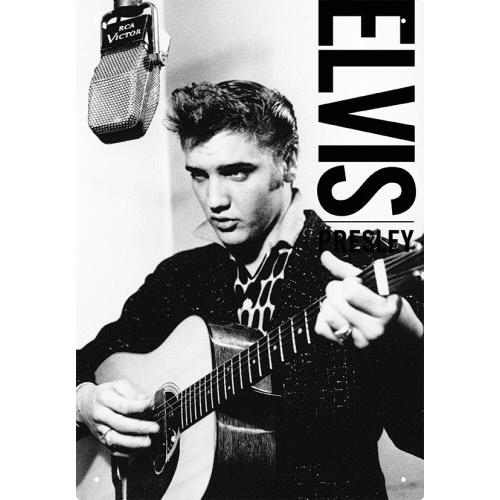 Elvis B&W Tin Sign.