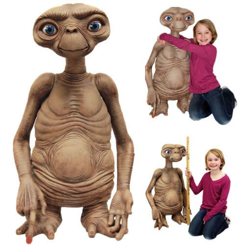 E.T. Stunt Puppet Prop Replica. This foam rubber and latex figure stands nearly 3 feet tall and is hand painted with lifelike detail.