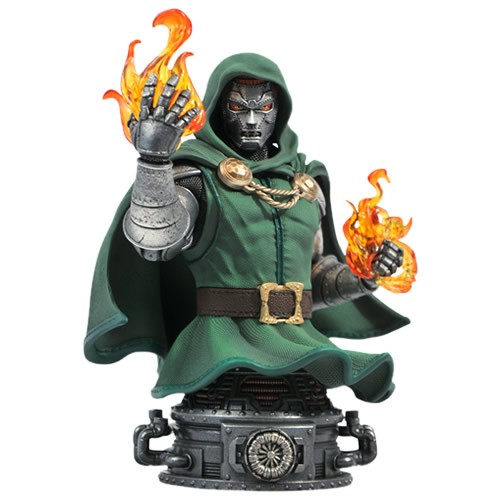 Marvel Comics Dr. Doom Mini Bust. Measuring approximately 6 Inches tall, this mini-bust of Victor Von Doom is limited to only 3000 pieces and features detailed sculpting and paint applications.