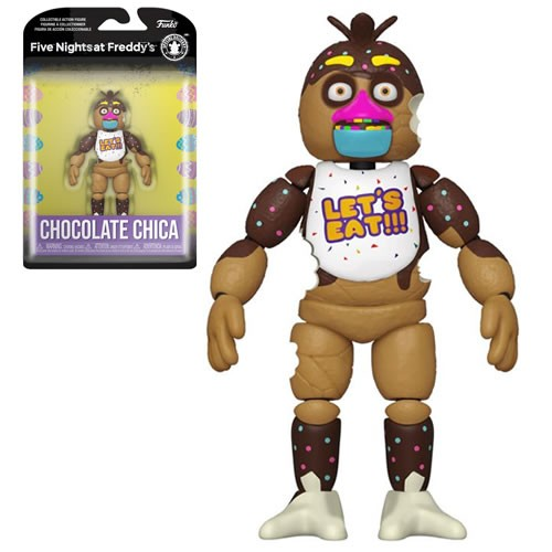 Five Nights at Freddys Special Delivery Chocolate Chica 5 inch Action Figure.