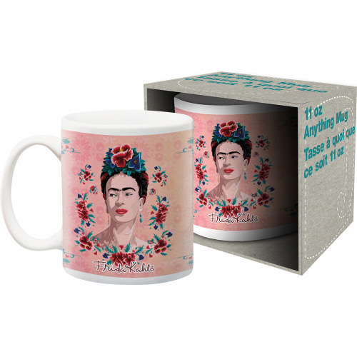 Frida Kahlo Peach 11 Ounce Mug.