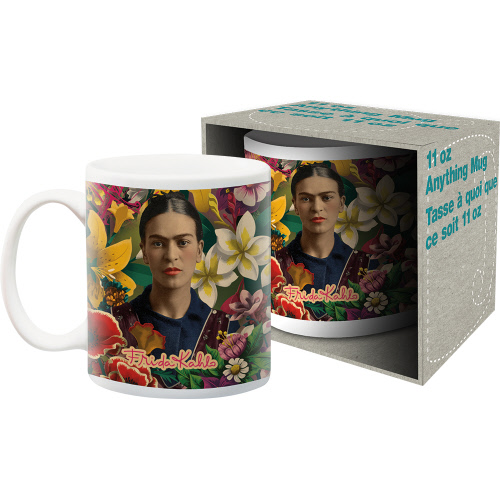 Frida Kahlo Floral 11 Ounce Boxed Mug.