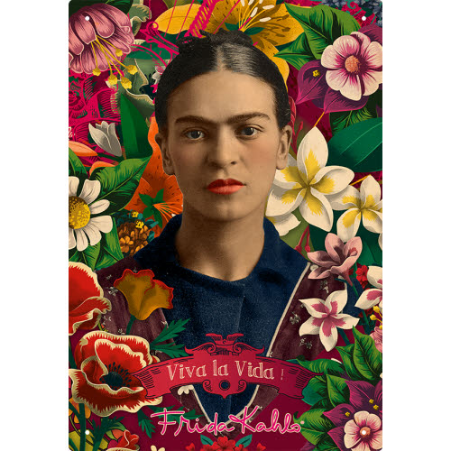 Frida Kahlo Collage Tin Sign.