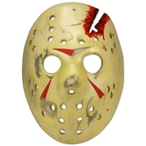 Friday The 13th Jason Mask Part 4 Final Chapter Prop Replica. This hand-painted and exceptionally detailed reproduction features elastic harness straps that allow you to wear it or hang on the wall.