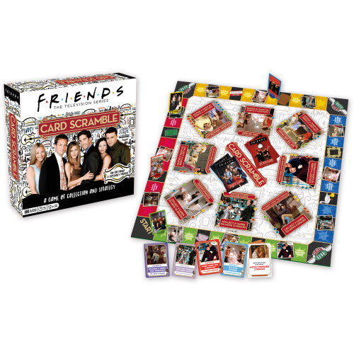 Friends Card Scramble Board Game.