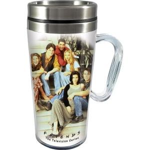 Friends Acrylic Travel Mug with Handle