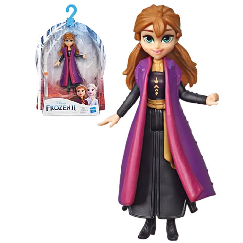 Small Dolls Frozen 2 Anna Doll. Dress the Anna small doll up in her removable cape and pretend she is going on a snowy adventure around Arendelle.