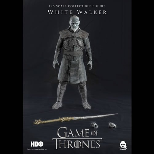 Game Of Thrones 1/6 Scale White Walker Regular Edition Action Figure. This 13 Inch tall White Walker is fully articulated and includes tailored clothing with finely detailed textures and removable armor.