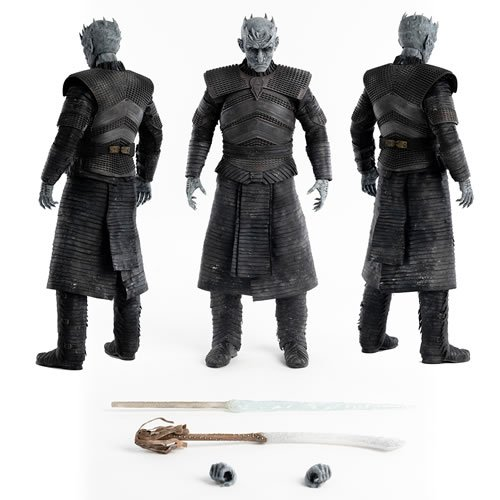 Game Of Thrones 1/6 Scale Night King Regular Edition Action Figure. Standing a stunning 13 Inches tall, this articulated figure features tailored clothing with finely detailed textures and weathering!