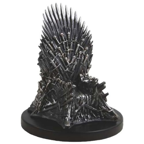 Game Of Thrones Mini Iron Throne Replica Statue. Measures 4 inches tall.