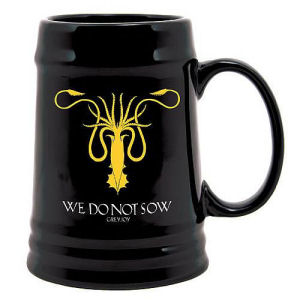 Game of Thrones Greyjoy Sigil Kraken Symbol Ceramic Stein