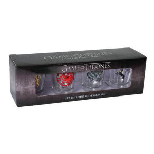 Game of Thrones House Sigils Shot Glass 4 Pack
