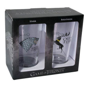 Game of Thrones Stark and Baratheon Pint Glass 2 Pack