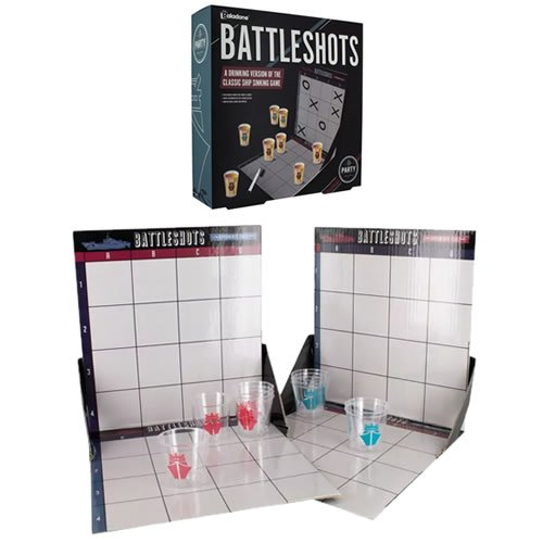Battle Shots Game. With Battle Shots, each player takes their turn to hit their opponents ship, and with each successful strike, not just the ship that gets sunk!