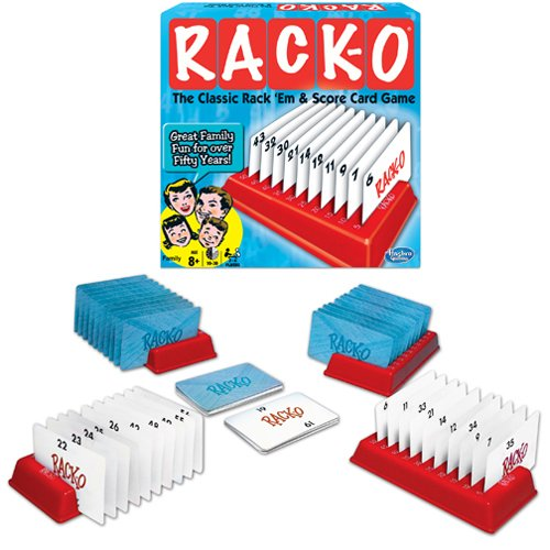 Rack-O Game. Includes Deck of 60 Rack-O playing cards - 4 plastic racks - Intructions