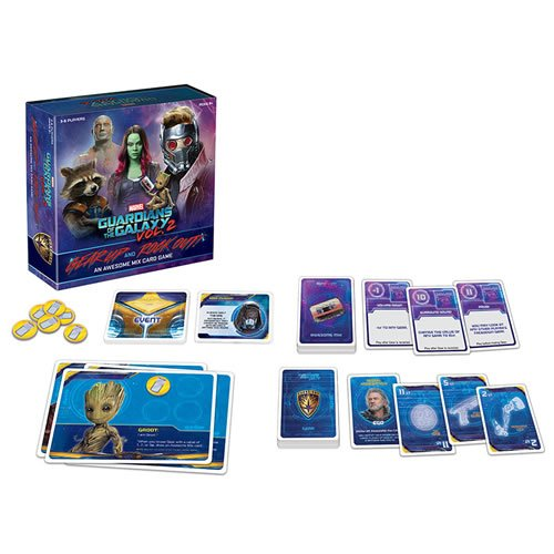Guardians Of The Galaxy 2 Gear Up and Rock Out! An Awesome Mix Card Game. Play as your favorite intergalactic hero as you do whatever it takes to avoid ending up with the worst gear.