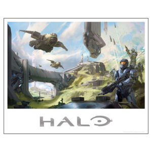 Halo 5 Future Imperfect Foil-Stamped Lithograph