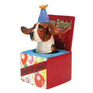 Westland Giftware Happy Birthday Dog in a box Bobble figurine