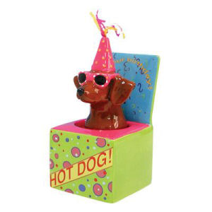 Westland Giftware Happy Birthday Sunglasses Dog in a box Bobble figurine
