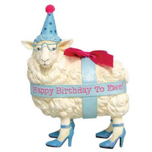 Westland Giftware Happy Birthday Ewe figurine