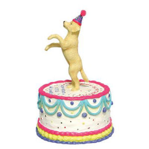 Westland Giftware Happy Birthday Doggy Cake Animated Musical Figurine