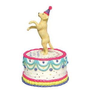 Westland Giftware Happy Birthday Doggy Cake Animated Musical Figurine
