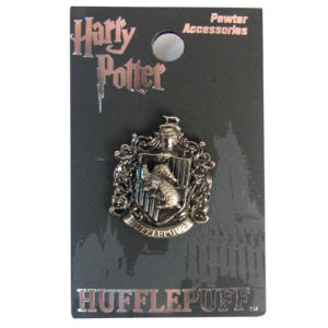 Harry Potter Hufflepuff Crest Pewter Lapel Pin