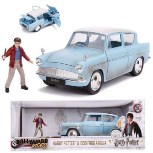 Harry Potter 1959 Ford Anglia with Harry Potter Figure 1:24th Scale Diecast Vehicle
