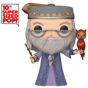 Harry Potter Dumbledore and Fawkes 10 Inch Pop! Vinyl Figure