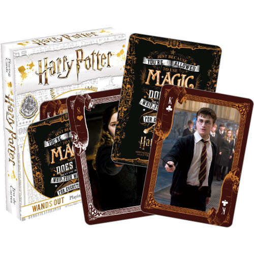 Harry Potter Wands Out Playing Cards.