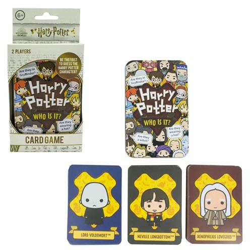 Harry Potter Who Is It? Card Game. Game includes 72 character cards split into three separate colour-coded packs.