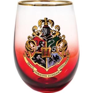 Harry Potter Hogwarts Crest Stemless Wine Glass