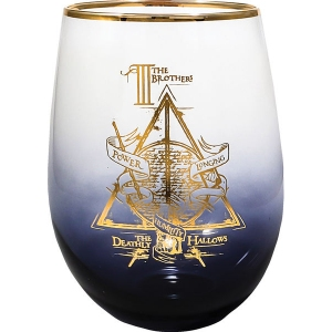 Harry Potter Deathly Hallows Stemless Wine Glass