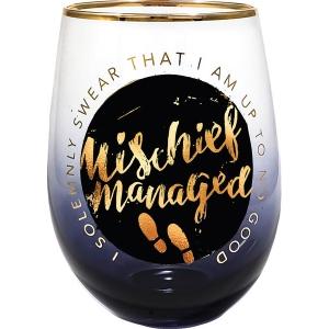 Harry Potter Mischief Managed Stemless Wine Glass