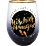 Harry Potter Mischief Managed Stemless Wine Glass. I solemnly swear that I am up to no good.