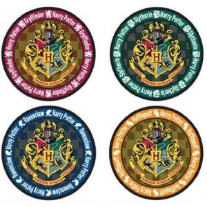 Harry Potter Round Hogwarts Crest Coasters 4-Pack