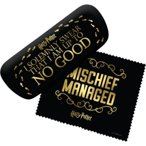 Harry Potter Mischief Managed Eyeglass Case with Cleaning Cloth