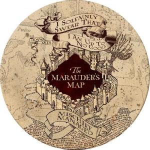 Harry Potter Marauders Map Melamine Plates
