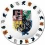 Harry Potter Hogwarts Crest Melamine Plates.