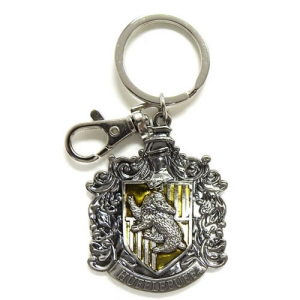 Harry Potter Pewter Hufflepuff Logo Key Chain