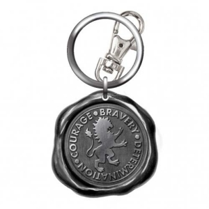 Harry Potter Pewter Gryffindor Seal Stamp Key Chain