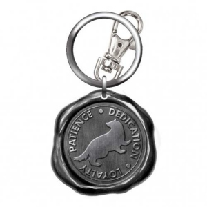 Harry Potter Pewter Hufflepuff Seal Stamp Key Chain