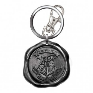 Harry Potter Pewter Hogwarts Seal Stamp Key Chain