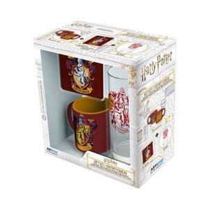 Harry Potter Gryffindor Mix Glass -Mini Mug and Coaster Gift Set