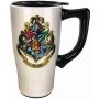 Harry Potter Hogwarts Crest Travel Mug with Handle.