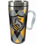 Harry Potter Hufflepuff Acrylic Travel Mug with Handle.