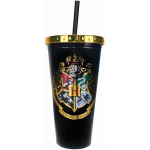 Harry Potter Hogwarts Crest Foil Cup with Straw
