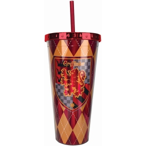 Harry Potter Gryffindor Foil Cup with Straw