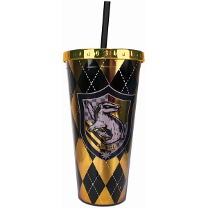 Harry Potter Hufflepuff Foil Cup with Straw
